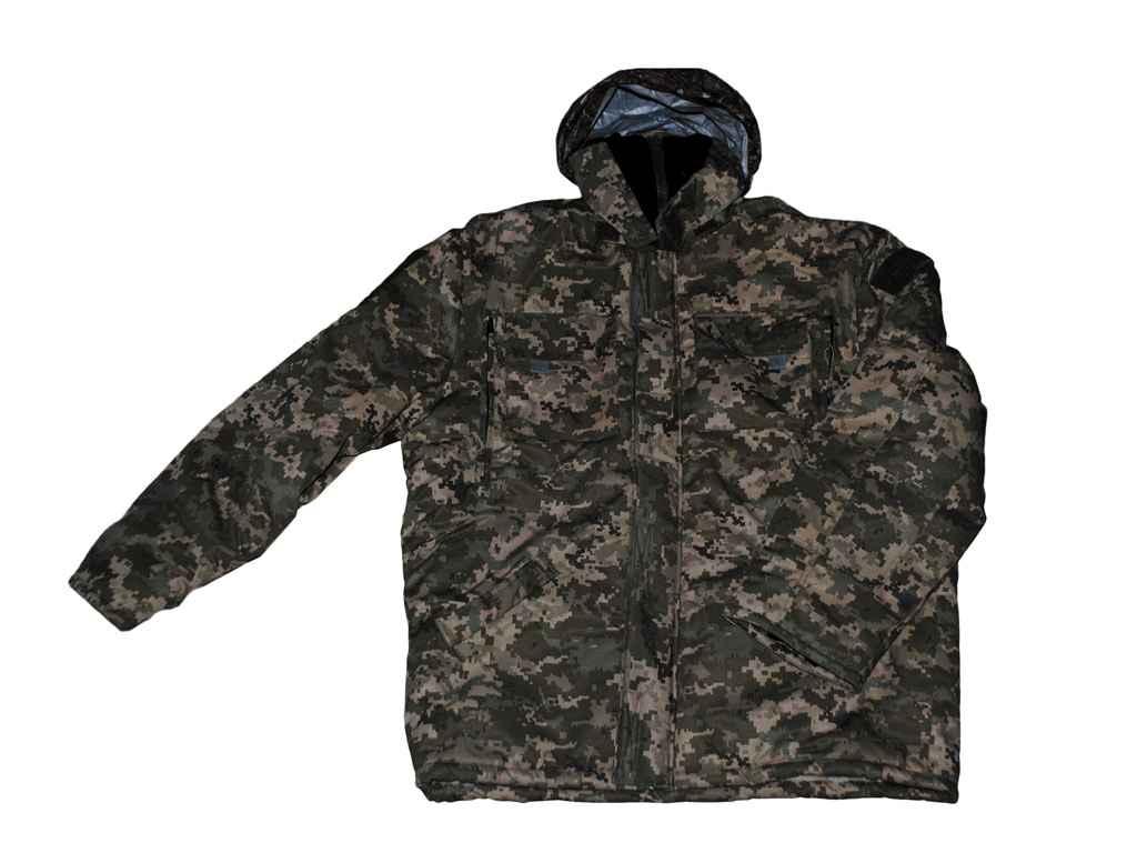 Куртка камуф. з трикот. воротом на хутрі