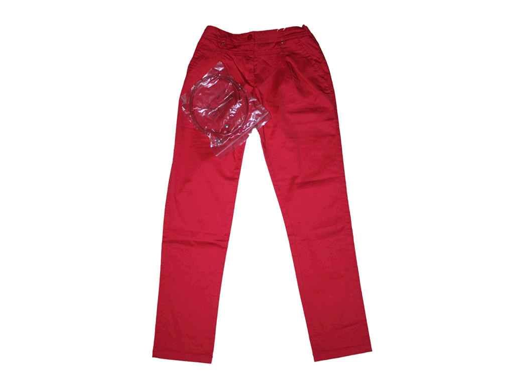 Купити. 367667. Штани з ременем для дівчинки червоні 12 років зріст 152 см  31123661 TM